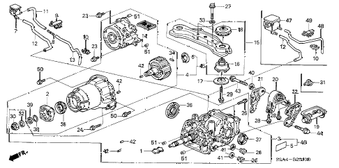 2004 honda accord parts diagram 1994 jeep grand cherokee wiring online store crv rear differential cr 45 v ex 4wd 5 door 4at
