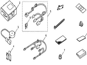 Honda online store : 2012 ACCORD BACK UP SENSOR ATTACHMENT
