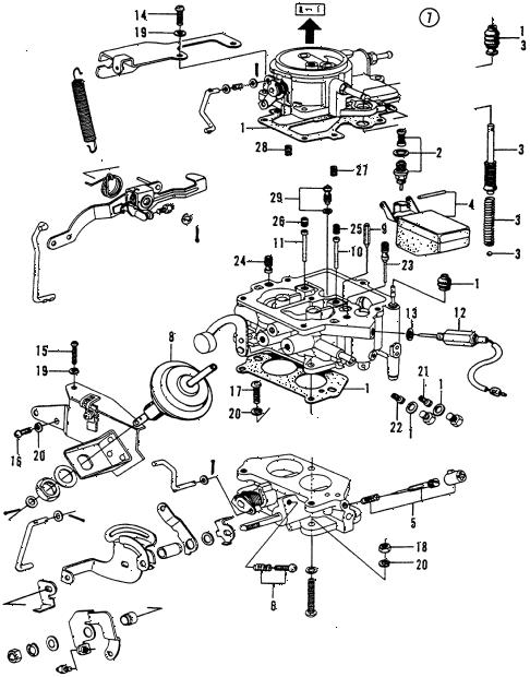 Honda online store : 1974 civic carburetor ('73-'74) parts