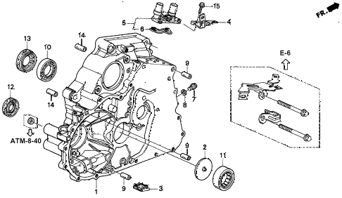 Honda online store : 1998 civic at torque converter