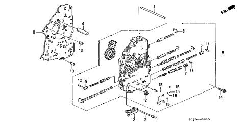 Honda online store : 2000 civic at main valve body parts