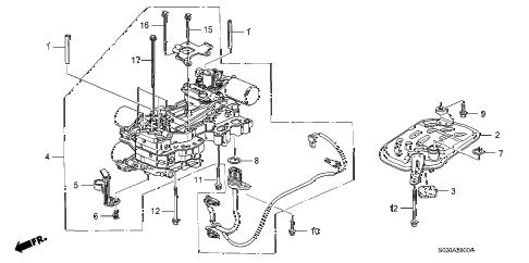 Honda online store : 1997 civic cvt main valve body parts