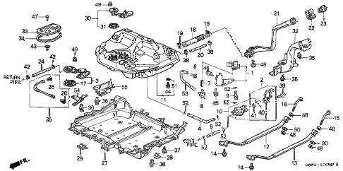 Honda online store : 1998 civic fuel tank (2) parts