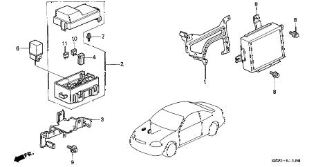 Honda online store : 2000 civic abs unit parts