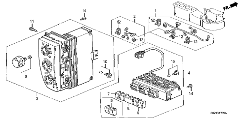 Honda online store : 1999 civic heater control (2) parts