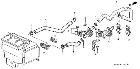 Honda online store : 1996 civic water valve parts