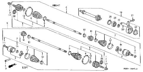 Honda online store : 2000 civic driveshaft (2) parts