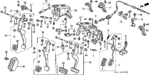 Honda online store : 2000 civic pedal parts