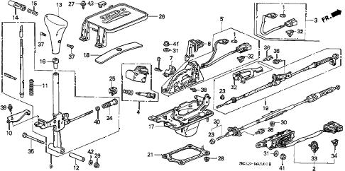 Honda online store : 1998 civic select lever parts