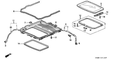 Honda online store : 1998 civic sliding roof parts