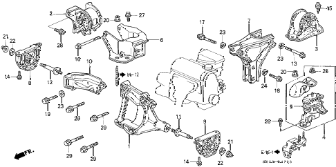 1996 Honda Passport Engine Diagram. 1996. Wiring Diagram