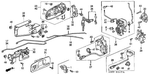 Honda online store : 2000 civic door lock parts