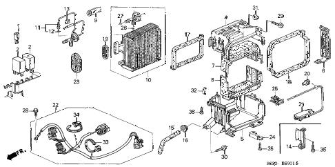 Honda online store : 1998 civic a/c cooling unit (2) parts