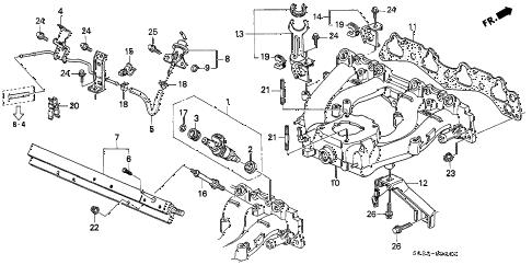 Honda online store : 1998 civic intake manifold (sohc) parts