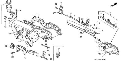 Honda online store : 1998 civic intake manifold (vtec) parts