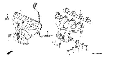 Honda online store : 1998 civic exhaust manifold (vtec) (1