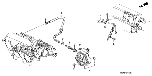 Honda online store : 2000 civic breather chamber (vtec) parts