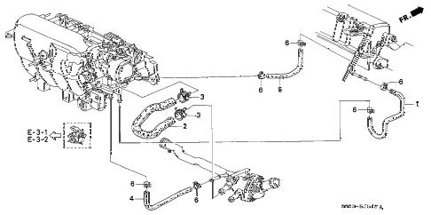 Honda online store : 1998 civic water hose (vtec) (at) parts