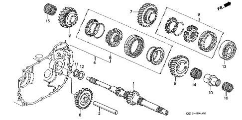 Honda online store : 1996 civic mt mainshaft (sohc) parts