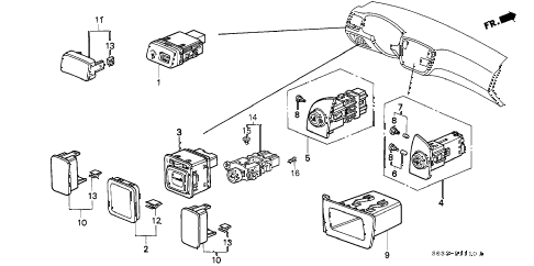 Honda online store : 1999 civic switch parts