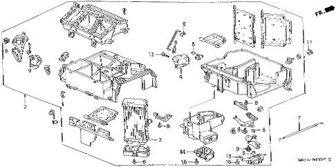 Honda online store : 1996 civic heater unit parts