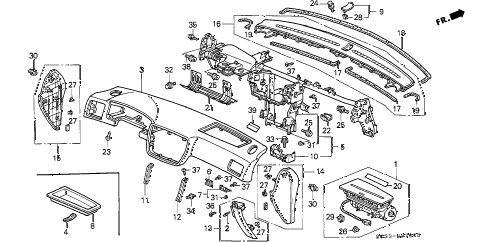 Honda online store : 1998 civic instrument panel parts