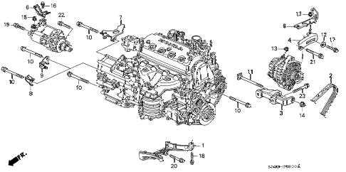 Honda online store : 1998 civic alternator bracket