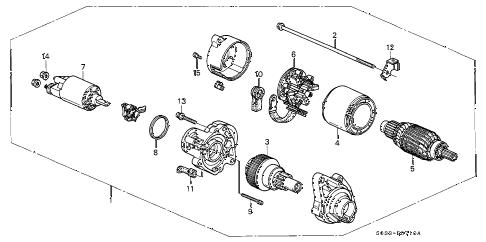 Honda online store : 1997 civic mt starter motor (mitsuba