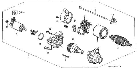 Honda online store : 1997 civic at starter motor (mitsuba