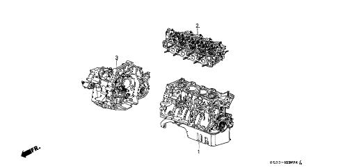 Honda online store : 1996 civic engine assy