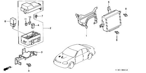 Honda online store : 1997 civic abs unit parts