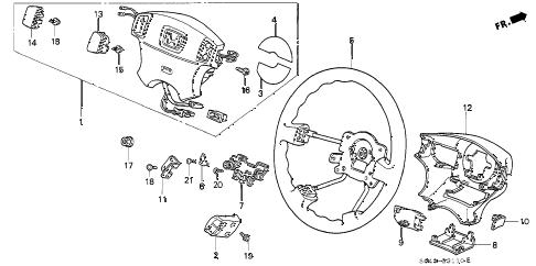 Honda online store : 1996 civic steering wheel (srs) parts
