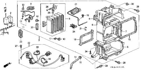 Honda online store : 1996 civic a/c unit (1) parts
