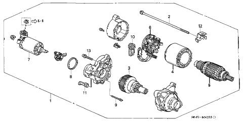 Honda online store : 1997 civic at starter motor parts