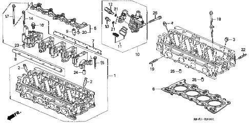 Honda online store : 1996 civic cylinder head (vtec) parts