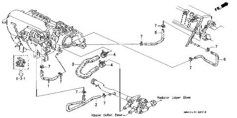 Honda online store : 1997 civic water hose (2) parts