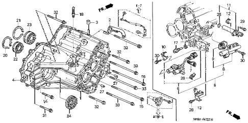 Honda online store : 1998 civic at transmission housing parts