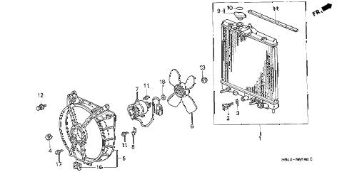 Honda online store : 1999 civic radiator (denso) parts