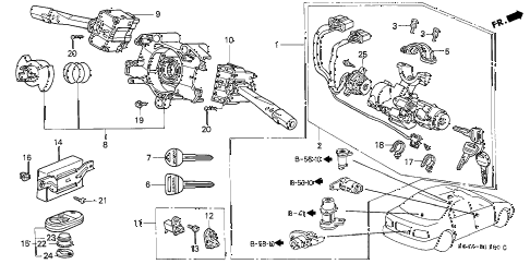 Honda online store : 2000 civic combination switch parts