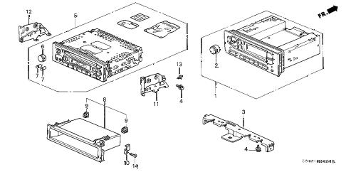 Honda online store : 2000 civic auto radio parts