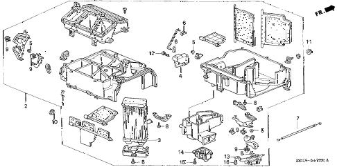 Honda online store : 2000 civic heater unit parts