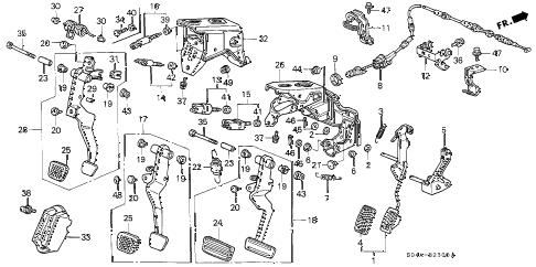Honda online store : 1998 civic pedal parts
