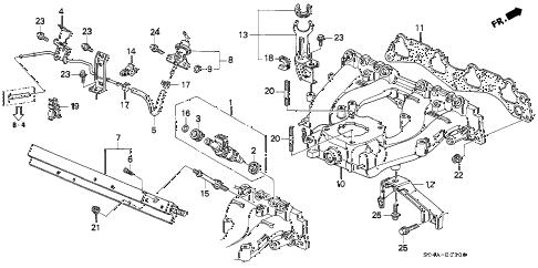 Honda online store : 1998 civic intake manifold (1) parts