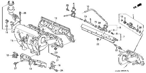 Honda online store : 2000 civic intake manifold (2) parts