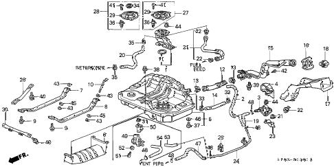 Honda online store : 1997 crv fuel tank (1) parts