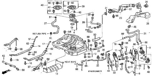 Honda online store : 1999 crv fuel tank (2) parts