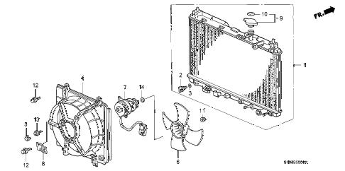 Honda online store : 1999 crv radiator parts