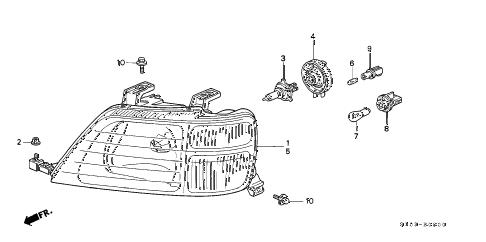 Honda online store : 1999 crv headlight parts