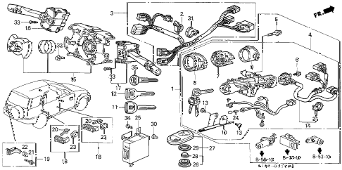 Honda online store : 2001 crv combination switch parts