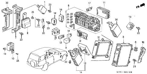 Honda online store : 1997 crv control unit (cabin) parts